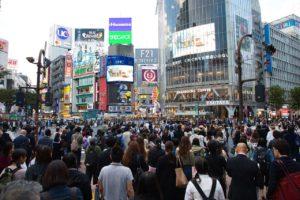渋谷の駅前の画像