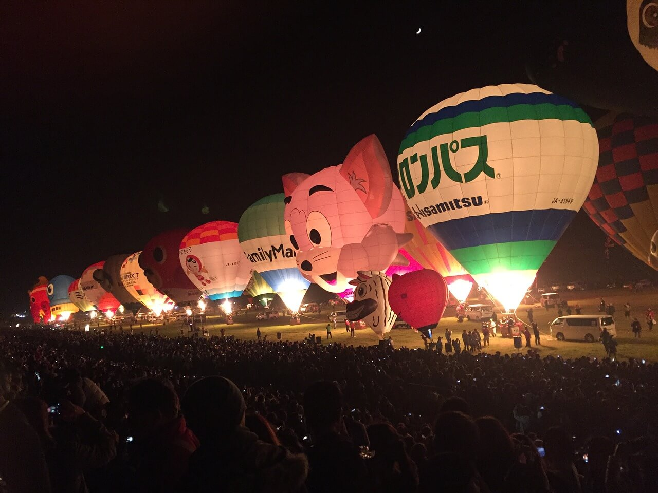 佐賀名物の気球画像