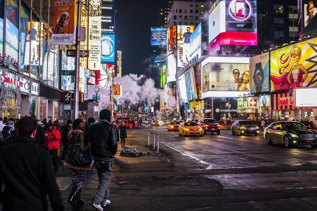 繁華街の画像
