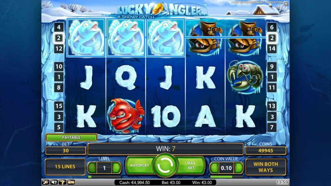Lucky Angler A Snowy Catch Free Play Slot